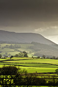Field. Cloud Prints - Black Mountains Print by Ginny Battson