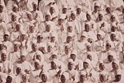 Civil Rights Movement Posters - Black Muslim Women Dressed In White Poster by Everett