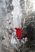 Black N White N Red All Over I Print by Danita Cole