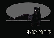Panther Digital Art Framed Prints - Black panther Framed Print by Joaquin Abella Ojeda