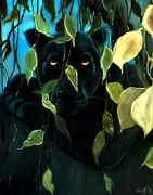 Panther Paintings - Black Panther by Nick Gustafson