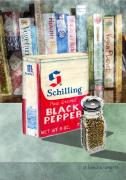 Pepper Art - Black Pepper by Arline Wagner