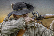 Colonial Man Digital Art Prints - Black Powder Rifle Print by Randy Steele
