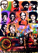 Sit-ins Acrylic Prints - Black Revolution Acrylic Print by Tony B Conscious