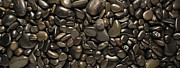 Pebble Art - Black River Stones Landscape by Steve Gadomski