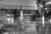 Arkansas Art - Black River Train Bridge at Black Rock Arkansas by Geary Barr
