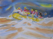 White Water Rafting Paintings - Black River Whitewater Rafting by Robert P Hedden