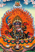 Tibetan Buddhism Prints - Black Robe Diamond 2 Print by Lanjee Chee