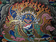 Tibetan Buddhism Metal Prints - Black Robe Diamond 3 Metal Print by Lanjee Chee