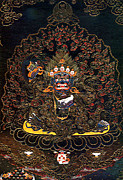 Tibetan Buddhism Framed Prints - Black Robe Diamond 4 Framed Print by Lanjee Chee