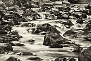 Water Flowing Framed Prints - Black Rocks Framed Print by Patrick M Lynch
