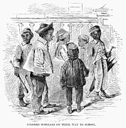 Freedmen Posters - Black School Children Poster by Granger