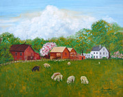 Colts Paintings - black sheep in Colts Neck NJ by Leonardo Ruggieri