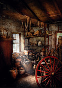 Projects Framed Prints - Black Smith - You thought your shop was messy Framed Print by Mike Savad