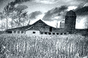 Barn Photos - Black Snow by Emily Stauring