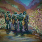 African-american Paintings - Black Soldier by Janie McGee