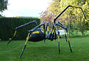 Outside Sculptures - Black Spider Sculpture by Sebastien JUGUET