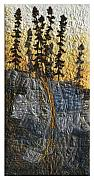 Rock Tapestries - Textiles Originals - Black Spruce by Lorraine Roy