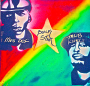 First Amendment Paintings - Black Star by Tony B Conscious