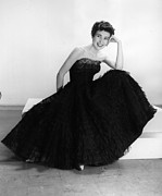 Evening Wear Photo Posters - Black Summer Dress Poster by Kurt Hutton