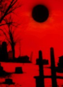 Graveyard Digital Art - Black Sun by Gothicolors And Crows