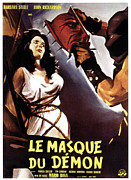 1960s Poster Art Framed Prints - Black Sunday, Aka Le Masque Du Demon Framed Print by Everett