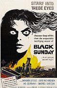 1960 Movies Prints - Black Sunday, Barbara Steele, One-sheet Print by Everett