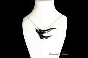 Moda Jewelry - BLACK  SWALLOW Rondine Nera Unique Jewel of the Collection Dedicated to Amy Winehouse  by Emanuele Rubini