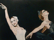 Thriller Painting Originals - Black Swan Study by James Falciano