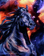 Horse Art Prints Prints - Black Thunder Print by Jan Taylor
