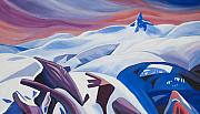 Canada Paintings - Black Tusk Sunrise by Ginevre Smith