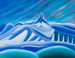 Canada Paintings - Black Tusk Whistler by Ginevre Smith