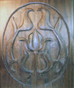 Art Nouveau Reliefs - Black Walnut Flower by Gary Stull