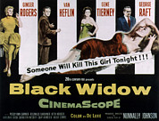 Black Widow Photo Posters - Black Widow, Ginger Rogers, Van Heflin Poster by Everett