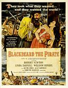 Blackbeard The Pirate, Poster Art Print by Everett