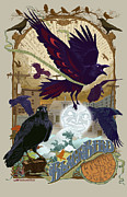 Crows Prints - Blackbird 1 Print by Nelson Garcia