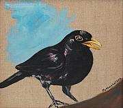 New Orleans Oil Paintings - Blackbird Singing  blackbird by Jason DuMouchel