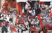 Hull Mixed Media Prints - Blackhawks mixed media Print by John Sabey Jr