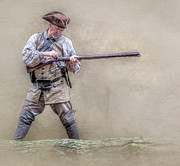Frontier Digital Art Prints - Blackpowder Woodsman Version Two Print by Randy Steele