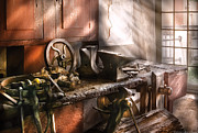 Metalworker Framed Prints - Blacksmith - In my Grandfathers Workshop - Current Framed Print by Mike Savad