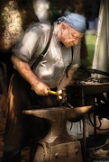 Smithy Framed Prints - Blacksmith - The Blacksmith Framed Print by Mike Savad