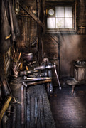 Garage Prints - Blacksmith - The Blacksmiths Shop Print by Mike Savad
