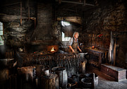 Metalworker Posters - Blacksmith - This is my trade  Poster by Mike Savad