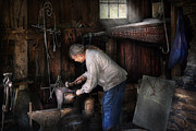 Smithy Framed Prints - Blacksmith - Tinkering with metal  Framed Print by Mike Savad