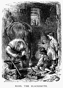 Farrier Framed Prints - Blacksmith, 1871 Framed Print by Granger
