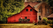 Bishop Hill Prints - Blacksmith Barn Print by Zeus  Montalvo