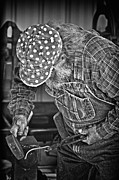 Farrier Framed Prints - Blacksmith Framed Print by Brian Mollenkopf