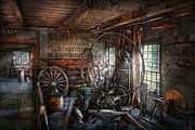 Wagon Wheels Photos - Blacksmith - Thats a lot of Hoopla by Mike Savad