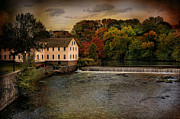Old Mill Framed Prints - Blackstone River Mill Framed Print by Robin-Lee Vieira