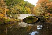 Blackstone Valley Prints - Blackstone Valley River Bridge Print by Jenna Szerlag